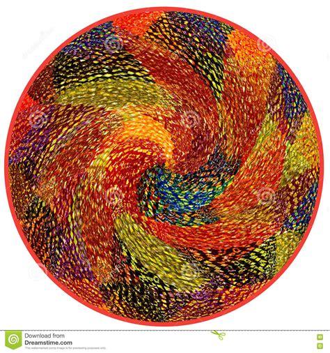 runder teppich mit runder bunter teppich mit dekorativem muster stock