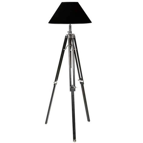 Tripod Floor L Tripod Floor L With Telescopic Black Legs And Nickel For Sale At 1stdibs