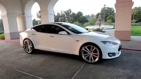 Tesla With Rims Tesla Model S 2013 On 22 Niche Concourse Wheels Cars Rims