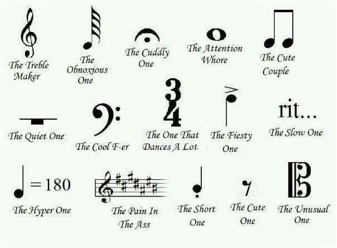 piano music symbols and meanings the meaning of music notes funny music pinterest