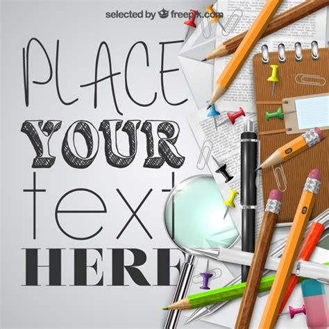 imagenes de utiles escolares gratis los 250 tiles escolares plantilla descargar vectores gratis
