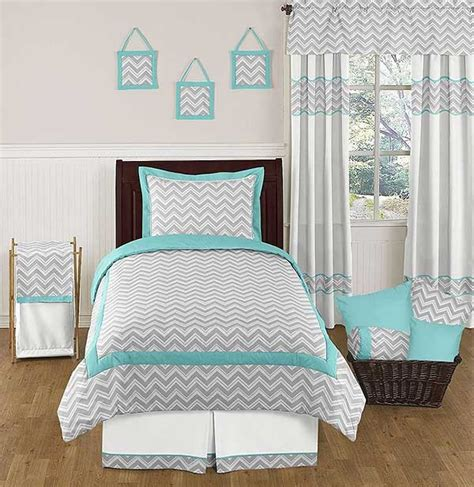 gray and aqua bedding zig zag turquoise gray chevron comforter set twin size bedding set teen