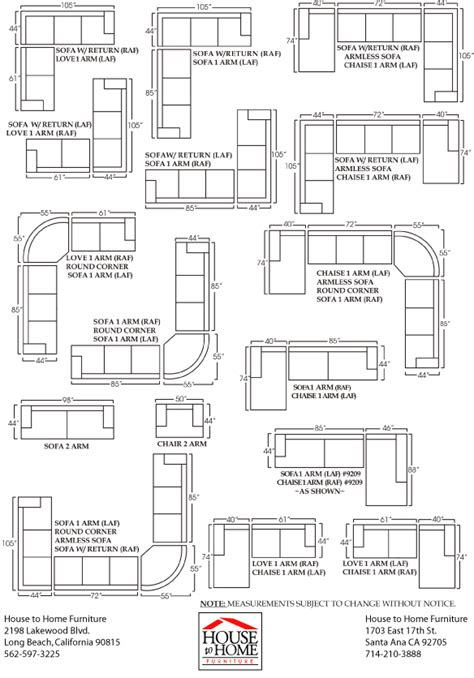 sectional sizes clayton sofa and sectional sizes