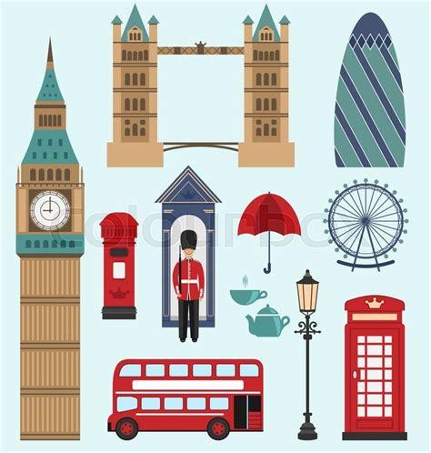 icons of england illustration london united kingdom flat icons collection of england colorful symbols group of