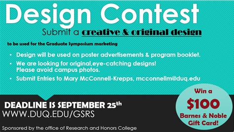 design contest guidelines graduate research duquesne university