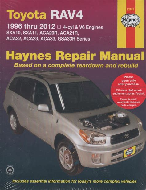 auto repair manual free download 2012 toyota rav4 engine control toyota rav4 petrol 1996 2012 haynes service repair manual workshop car manuals repair books