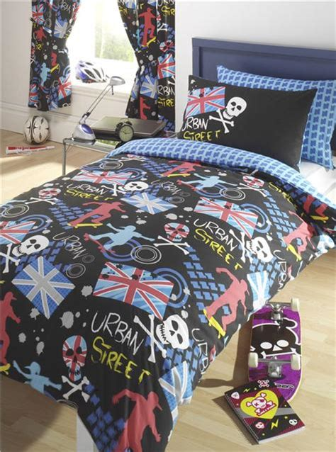 boys curtains and bedding union jack skateboard design duvet sets and or