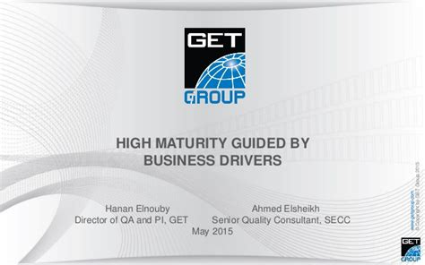 Mba Cus Drive by Hanan Elnouby Ahmed S Elsheikh Business Drivers For