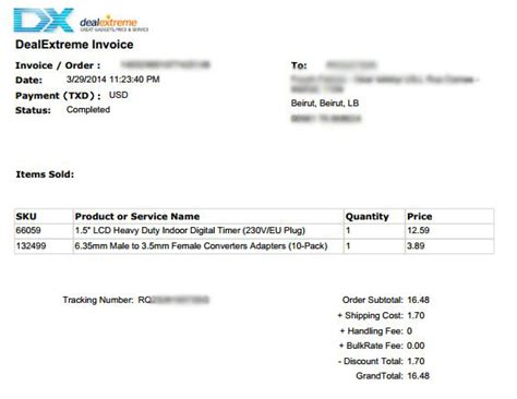 aliexpress invoice for customs shipping from abroad share your experience lebgeeks