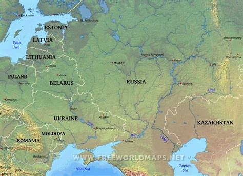 russia and europe physical map ural mountains map location ural free engine image for