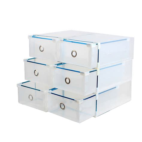 clear stackable drawers uk 10x foldable clear plastic home shoe box drawer stackable