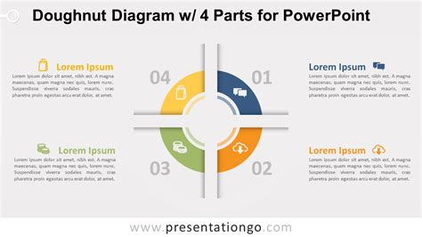 doughnut diagram doughnut diagram with 4 parts for powerpoint