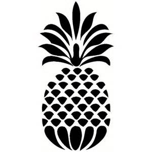 pineapple die cut vinyl decal pv733