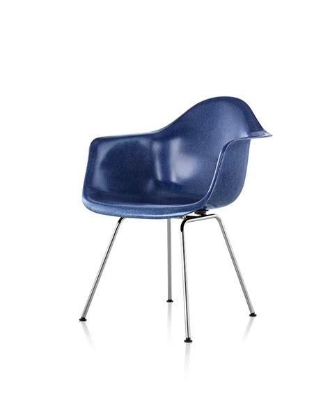 Eames Armchair by Eames Molded Fiberglass 4 Leg Base Armchair Seating