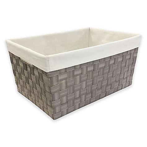 mystic apparel basket weave storage bin  liner  grey