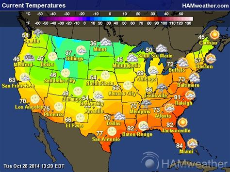 map of usa with weather temperatures current us temperature map free world map