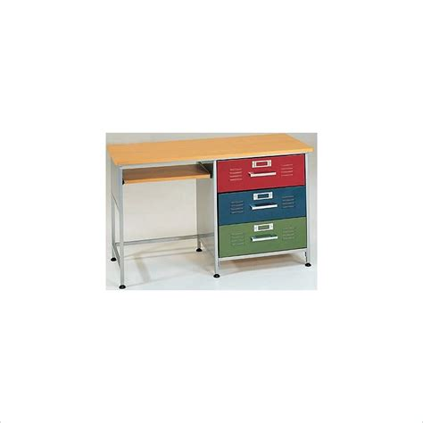 locker desk elite products 3 drawer metal locker desk