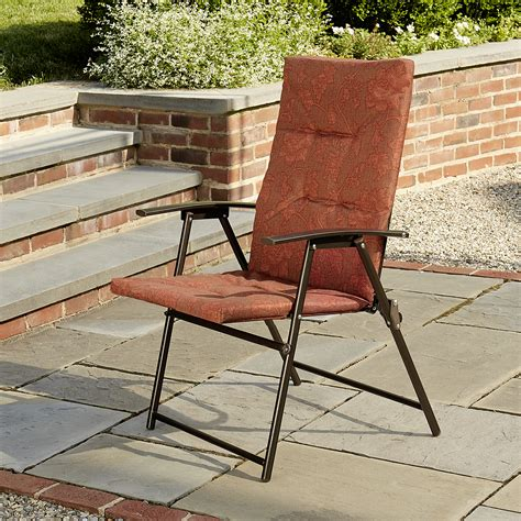 Terra Patio Furniture Cora Padded Chair Terra Cotta Outdoor Living Patio Furniture Chairs Recliners