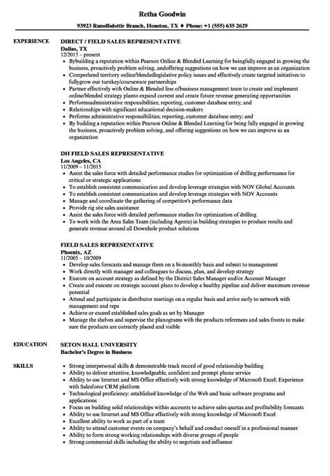 field sales representative resume sles velvet jobs