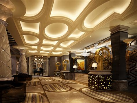 Luxury lobby 3d model max cgtrader com