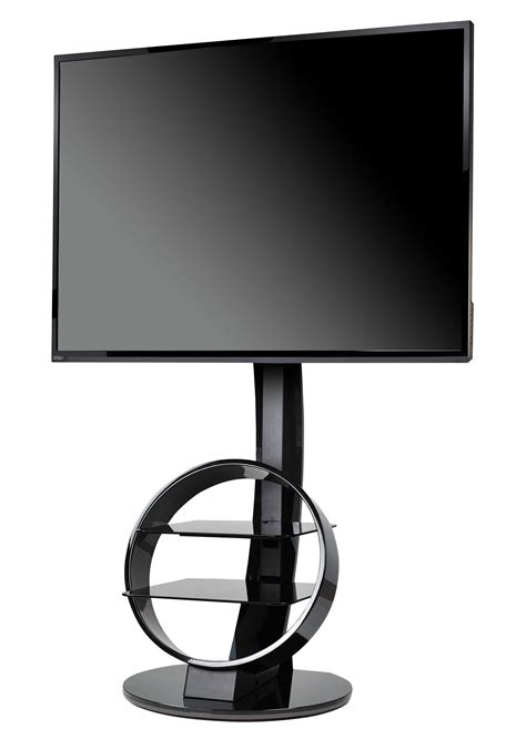 Meuble Tv Motorisé Pied De Lit by Meuble Tv Circle Avec Support Noir Ateca Made In Design