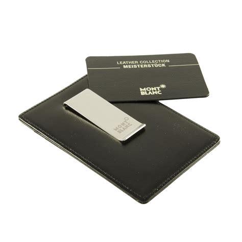 porta carte di credito e banconote porta carte di credito in pelle nera con clip per
