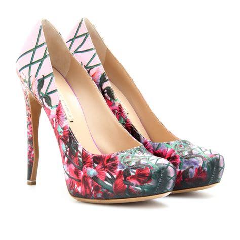 erdem floral printed kitten heel pumps womenshoes