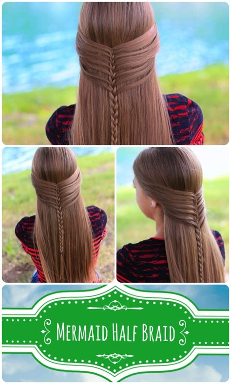 cute girl hairstyles mermaid braid mermaid half braid hairstyles for long hair cute girls