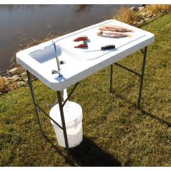 Folding Table With Sink Guide Gear Fish Cleaning Processing Folding Table With Sink Faucet Fish