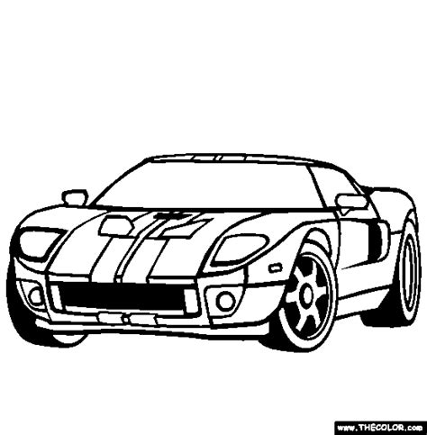free coloring pages of ford gt40