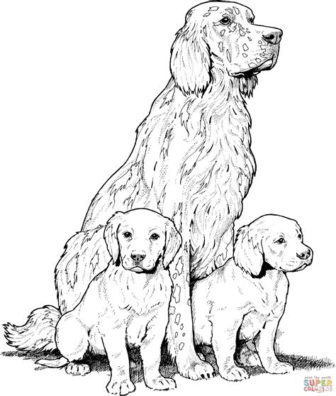 labrador coloring pages labrador with puppies coloring page free printable
