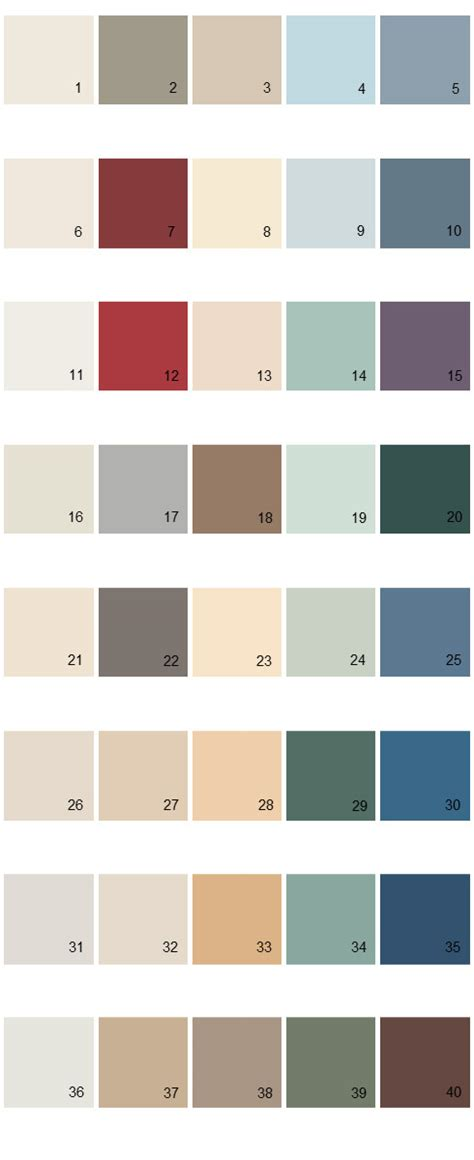 behr paint colors palette 33 house paint colors