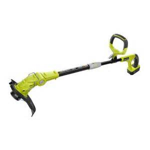 string trimmer home depot ryobi one 18 volt lithium ion cordless string trimmer