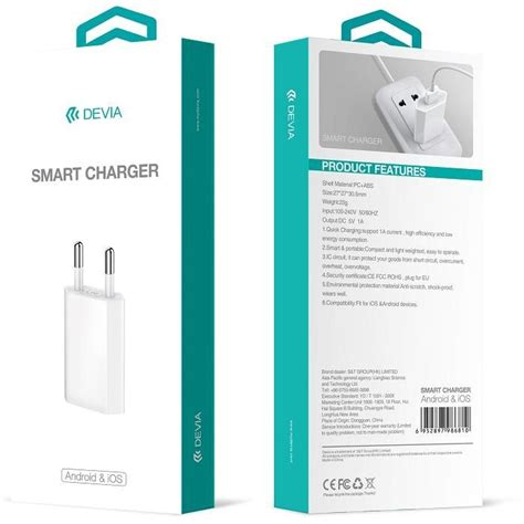 Devia Set 1 devia smart charger for ios android white apple iphone 6 6s plus 5 5 apple iphone 6 6s