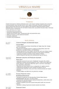 Fashion Stylist Resume Exles by Stylist Resume Sles Visualcv Resume Sles Database