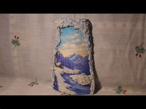 Tutorial Decoupage Su Ceramica | tutorial decoupage su tegola di ceramica con effetto neve