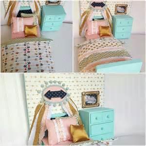 doll bedroom furniture arrow american doll bedroom set 18 doll bed by head2heart