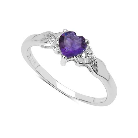 Blue Safir 4 89 Ct 9ct white gold small amethyst engagement