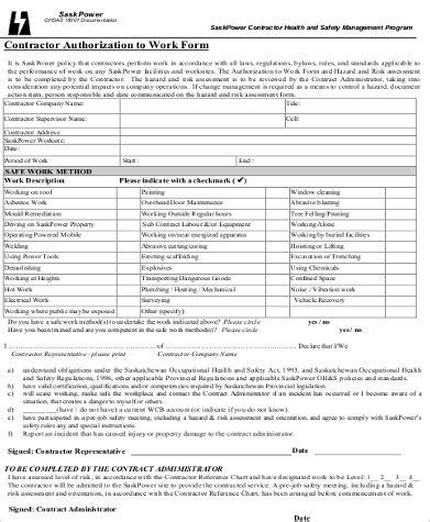 work authorization form template sle work authorization form 9 exles in word pdf
