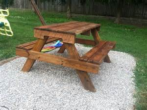 Building Plans For Wooden Picnic Table by Diy Kids Picnic Table From Pallet Wood Diy At Needles And Nails