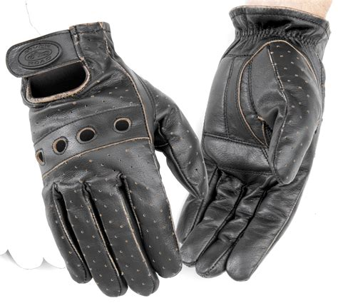 River Road Outlaw Vintage Men S Leather Motorcycle Glove