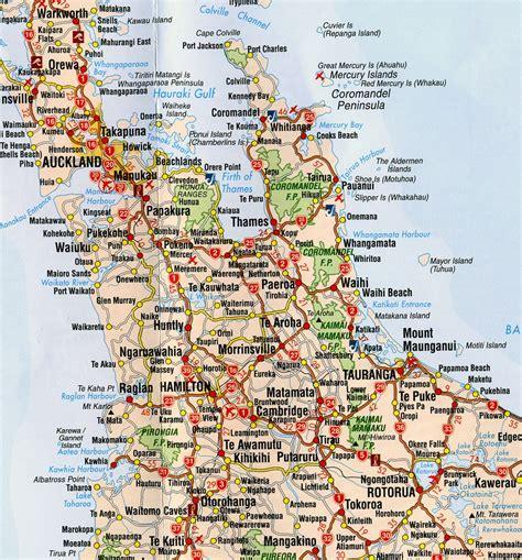 printable road map north island new zealand new zealand