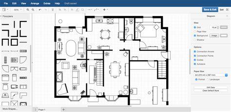 how to do floor plan exles draw io