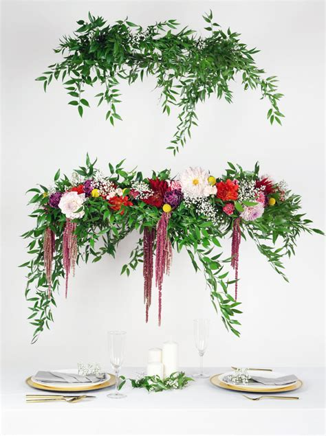 How to DIY a Wedding Flower Chandelier   Woman Getting Married