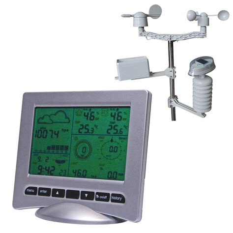 deluxe usb wireless home weather station uv meter meter