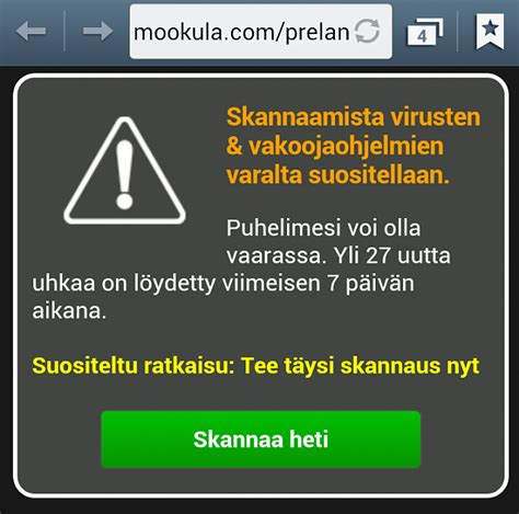 galaxy  security warning message android forums