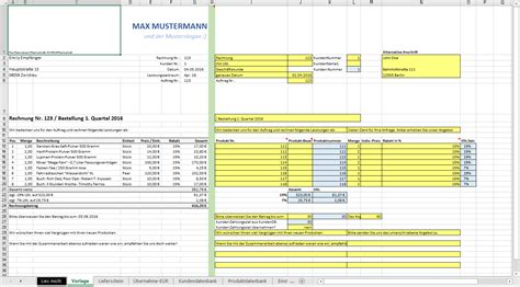 Angebot Vorlage Excel Excel Vorlage Automatisierte Angebots Und Rechnungserstellung Inkl Produkt Und
