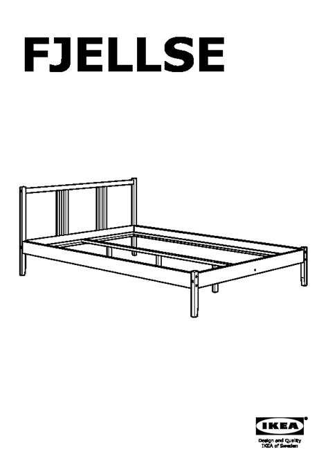 Bed Frame Assembly by Fjellse Bed Frame Pine Leirsund United Kingdom