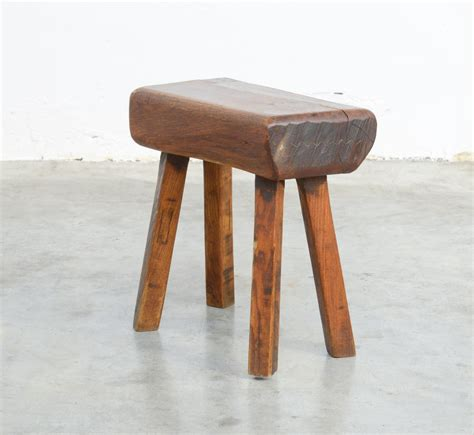 retro wooden stool vintage wooden block stool for sale at pamono