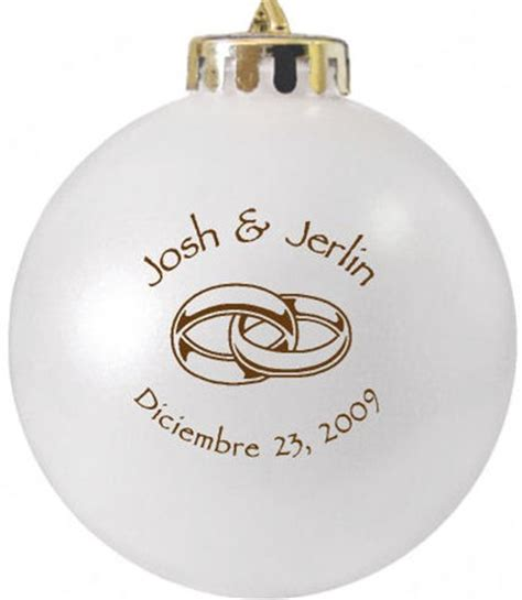 wedding favors christmas ornaments custom printed